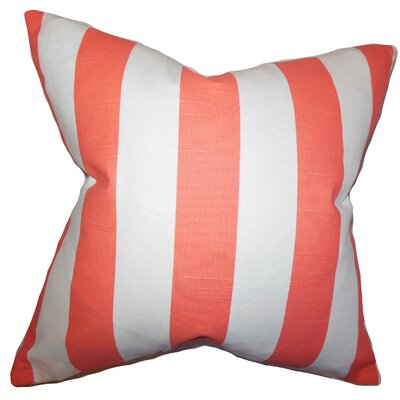 Acantha 100% Cotton Throw Pillow Color: Pink, Size: 18