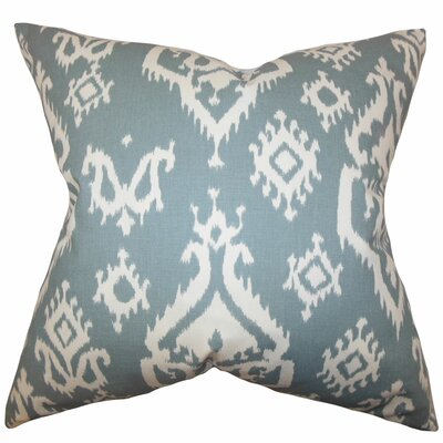 Baraka Ikat Throw Pillow Color: Suffron Gray, Size: 24 x 24