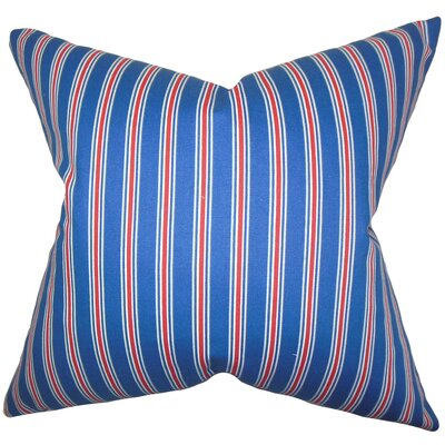Corliss Stripes Cotton Throw Pillow Size: 22 x 22