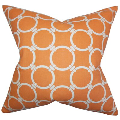 Sontag Geometric Bedding Sham Size: King, Color: Orange