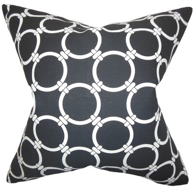 Bechet Geometric Throw Pillow Color: Black, Size: 18 x 18
