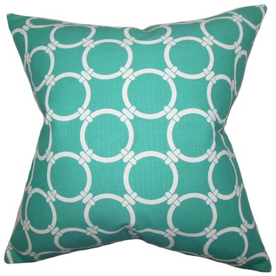 Bechet Geometric Throw Pillow Color: Jade, Size: 18 x 18