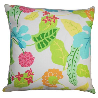 Cole Floral Outdoor Throw Pillow Color: Fiesta, Size: 22 x 22