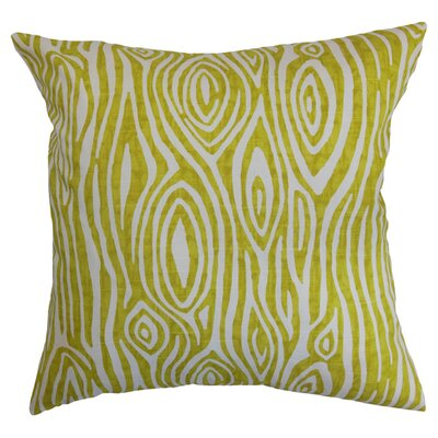 Thirza Swirls Cotton Throw Pillow Color: Artist Green, Size: 18 x 18