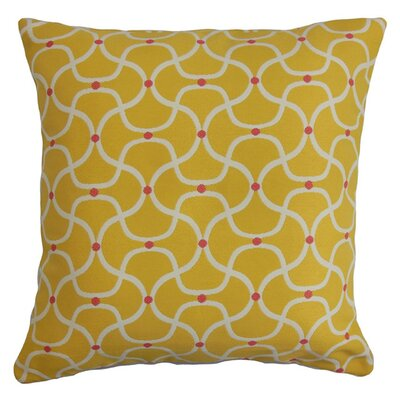 Radha Geometric Outdoor Throw Pillow Size: 18 x 18