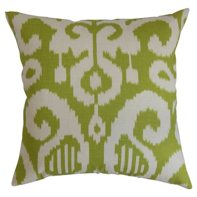Teora Throw Pillow Color: Lime, Size: 18 x 18
