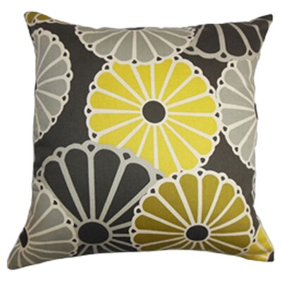 Gisela Cotton Throw Pillow Color: Chartreuse, Size: 24 x 24