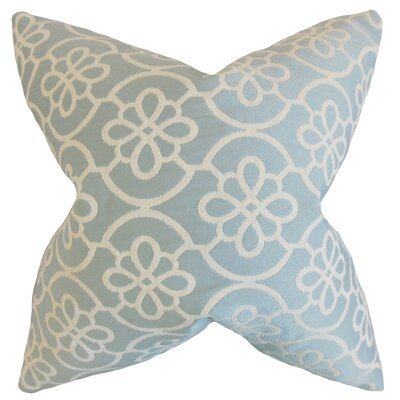 Indre Geometric Bedding Sham Size: King, Color: Sea Foam