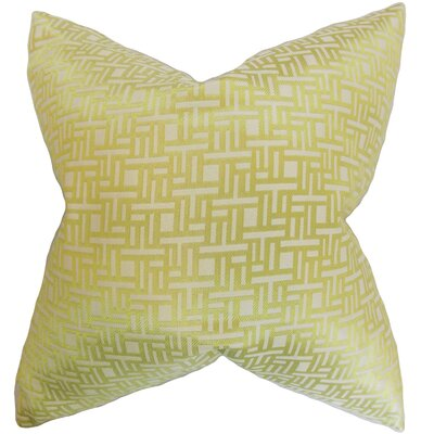 Daphnis Geometric Throw Pillow Color: Keylime, Size: 24 x 24