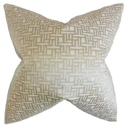 Daphnis Geometric Throw Pillow Color: Natural, Size: 18 x 18