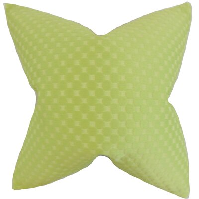 Kasen Solid Throw Pillow Color: Green, Size: 18 x 18