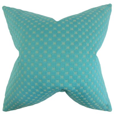 Kasen Solid Throw Pillow Color: Teal, Size: 18 x 18
