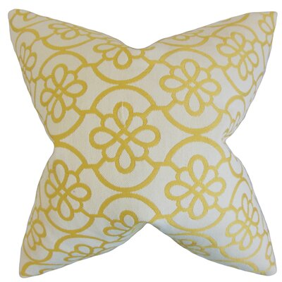 Indre Geometric Throw Pillow Color: Banana, Size: 22 x 22