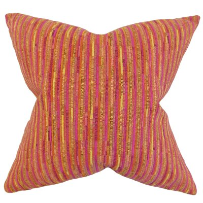 Qiturah Stripes Throw Pillow Color: Pink, Size: 18 x 18