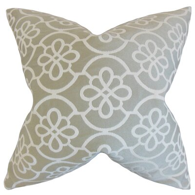 Chaplain Contemporary Geometric Bedding Sham Size: Euro, Color: Dove