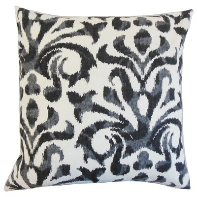 Coretta Ikat Throw Pillow Color: Charcoal, Size: 18 x 18