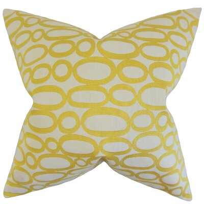 Penshire Geometric Bedding Sham Size: King, Color: Lemon