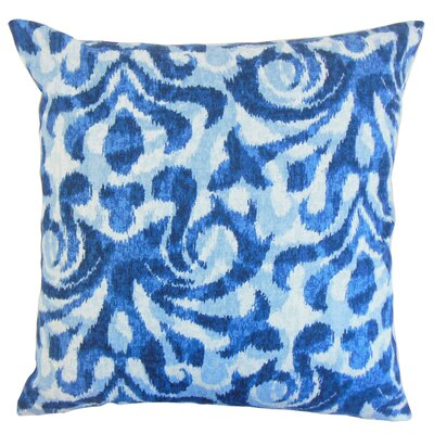 Coretta Ikat Throw Pillow Color: Blue, Size: 24 x 24