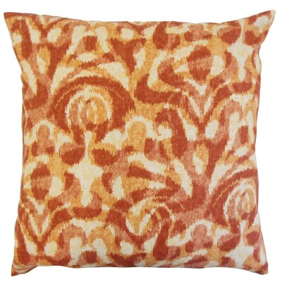 Coretta Ikat Throw Pillow Color: Persimmon, Size: 18 x 18