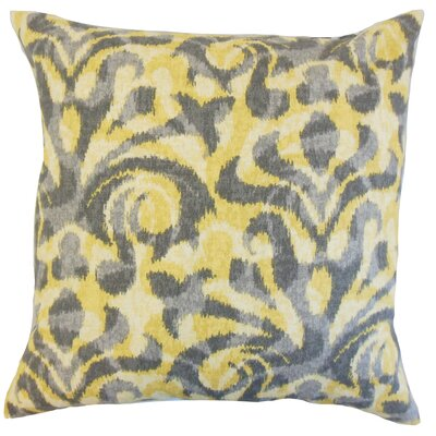 Coretta Ikat Throw Pillow Color: Yellow, Size: 24 x 24