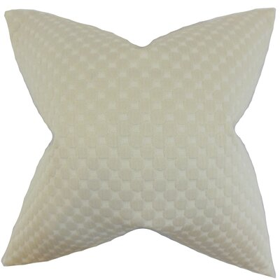 Kasen Solid Throw Pillow Color: Neutral, Size: 22 x 22