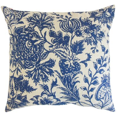 Bionda Floral Throw Pillow Color: Blue, Size: 18 x 18