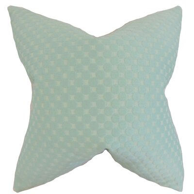 Kasen Solid Throw Pillow Color: Sea Glass, Size: 18 x 18