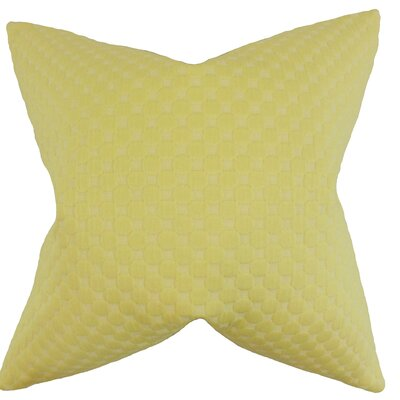 Kasen Solid Throw Pillow Color: Yellow, Size: 18 x 18