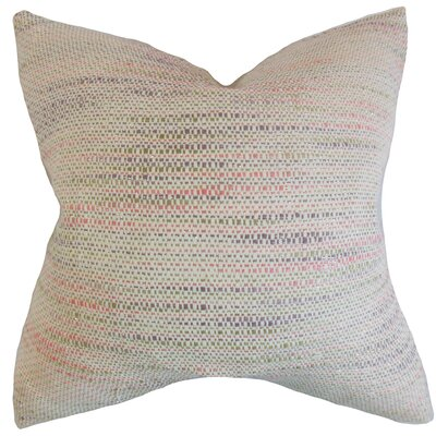 Chrisholm Striped Throw Pillow Color: Bubble Gum, Size: 18 x 18