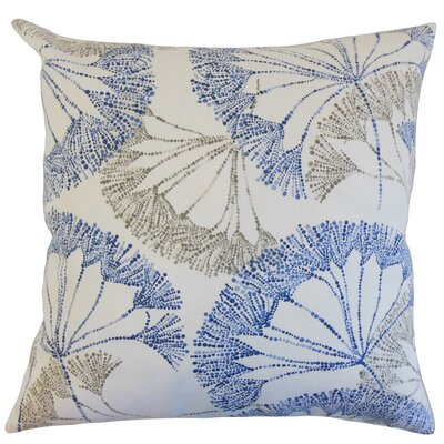 Grove Floral Cotton Throw Pillow Color: Blue, Size: 24 x 24
