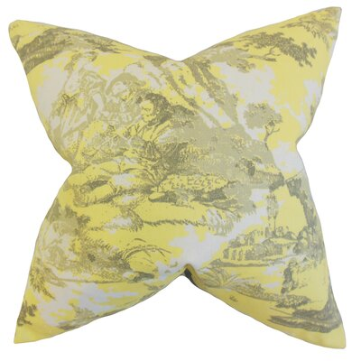 Folami Toile Bedding Sham Size: Euro, Color: Yellow