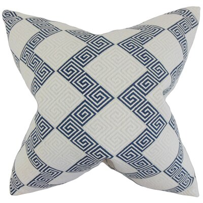 Sandrine Geometric Throw Pillow Color: Indigo, Size: 18 x 18