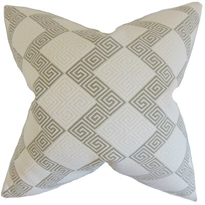 Sandrine Geometric Throw Pillow Color: Iron, Size: 18 x 18