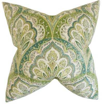 Xanthipe Paisley Cotton Throw Pillow Color: Peridot, Size: 18 x 18