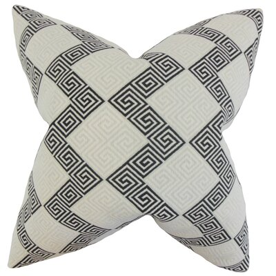 Sandrine Geometric Throw Pillow Color: Jet, Size: 24 x 24