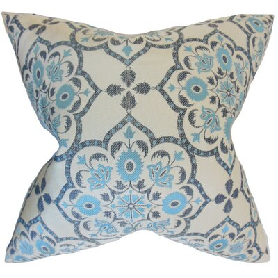 Nyasia Geometric Throw Pillow Color: Blue, Size: 18 x 18