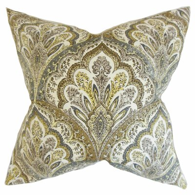 Xanthipe Paisley Cotton Throw Pillow Color: Olive, Size: 18 x 18