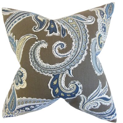 Kalani Paisley Cotton Throw Pillow Color: Truffle
