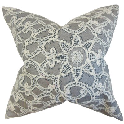 Brinley Geometric Cotton Throw Pillow Color: Platinum, Size: 18 x 18