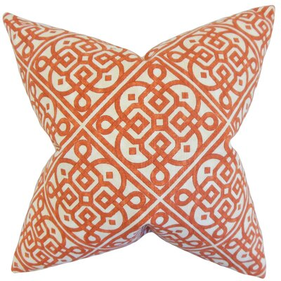 Auden Geometric Cotton Throw Pillow Color: Adobe, Size: 18 x 18