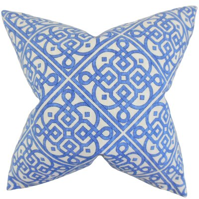 Auden Geometric Cotton Throw Pillow Color: Royal, Size: 18 x 18