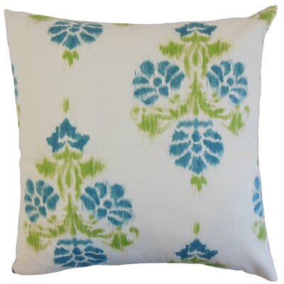 Edwige Ikat Bedding Sham Size: Euro, Color: Aqua/Green
