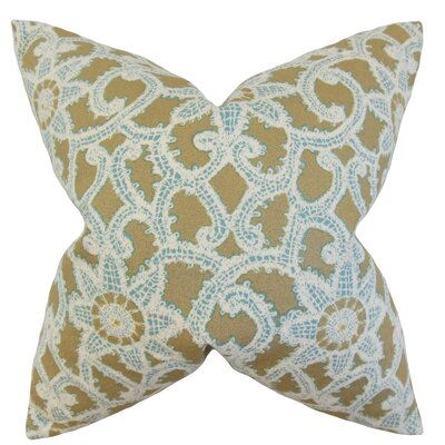 Brinley Geometric Cotton Throw Pillow Color: Gold, Size: 18 x 18