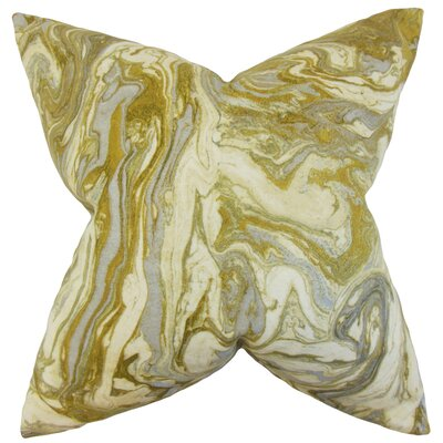 Ceylon Geometric Throw Pillow Color: Silver, Size: 18 x 18