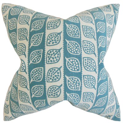 Ottilie Foliage Throw Pillow Color: Blue, Size: 18 x 18