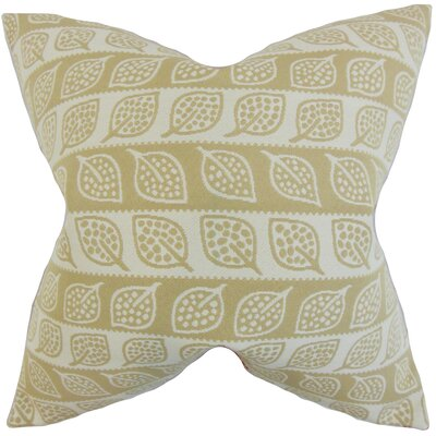 Ottilie Foliage Throw Pillow Color: Brown, Size: 18 x 18