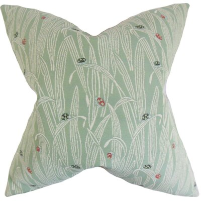 Dusha Foliage Outdoor Throw Pillow Color: Mist, Size: 18 x 18
