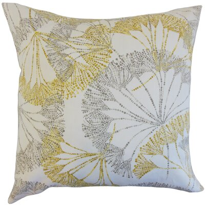 Grove Floral Cotton Throw Pillow Color: Yellow, Size: 22 x 22