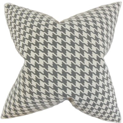 Presley Houndstooth Throw Pillow Color: Mineral, Size: 18 x 18