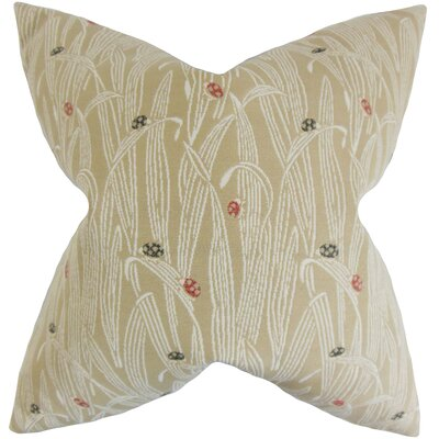 Dusha Foliage Outdoor Throw Pillow Color: Sand, Size: 18 x 18
